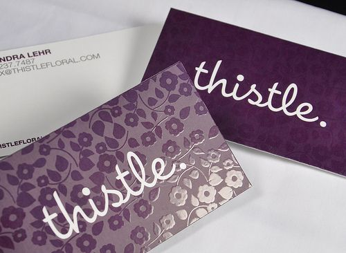 I love the spot gloss look.. It gives simple business cards great layers.