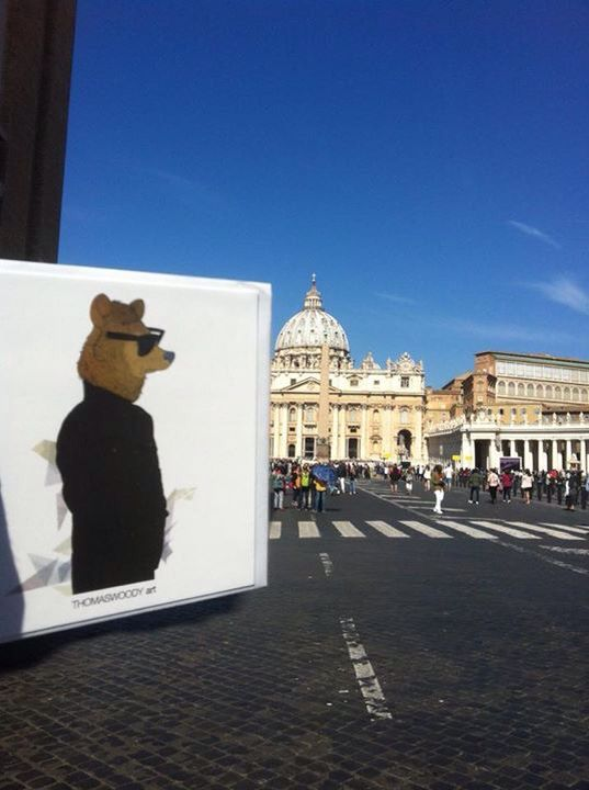 Kortene med ThomasWoody arts cool dyr set i Rom ☀️ www.KortOgPlakat.dk #plakater #posters #thomaswoody art #kunst #cool