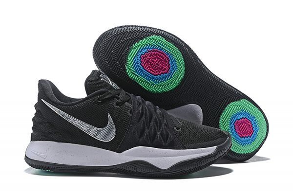 51882a91a9f6 2018 Mens Nike Kyrie 4 Low Black Metallic Silver AO8979-003 Basketball  Shoes-2