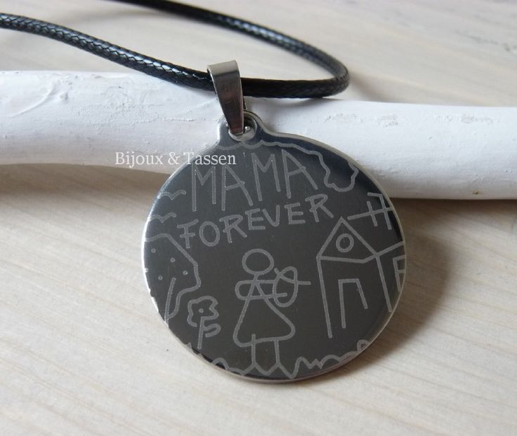"""Stainless steel """"Mama"""" ketting zilver"""