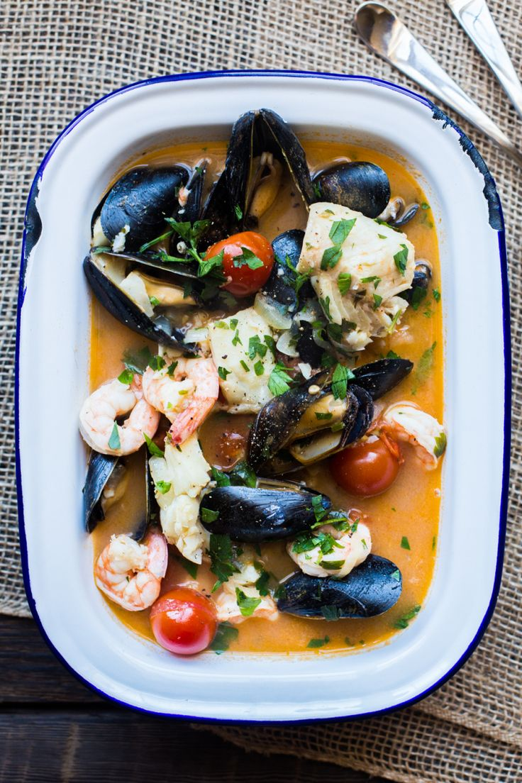 """Brudet is a fish stew from Croatia, similar to an Italian Brodetto or Greek Bourdeto. All three are based on the Venetian word brodeto (""""broth""""). The recipes for each dish are similar; …"""