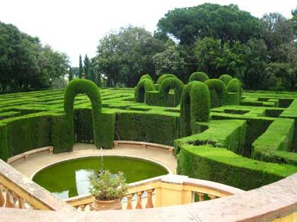 """The Parc del Laberint d'Horta """"Labyrinth Park of Horta"""", sometimes named Jardins (Gardens) del Laberint d'Horta) is an historical garden in the Horta-Guinardó district in Barcelona, and the oldest of its kind in the city. Located in the former estate of the Desvalls family, next to the Collserola ridge, the park comprises an 18th century neoclassical garden and a 19th century romantic garden."""