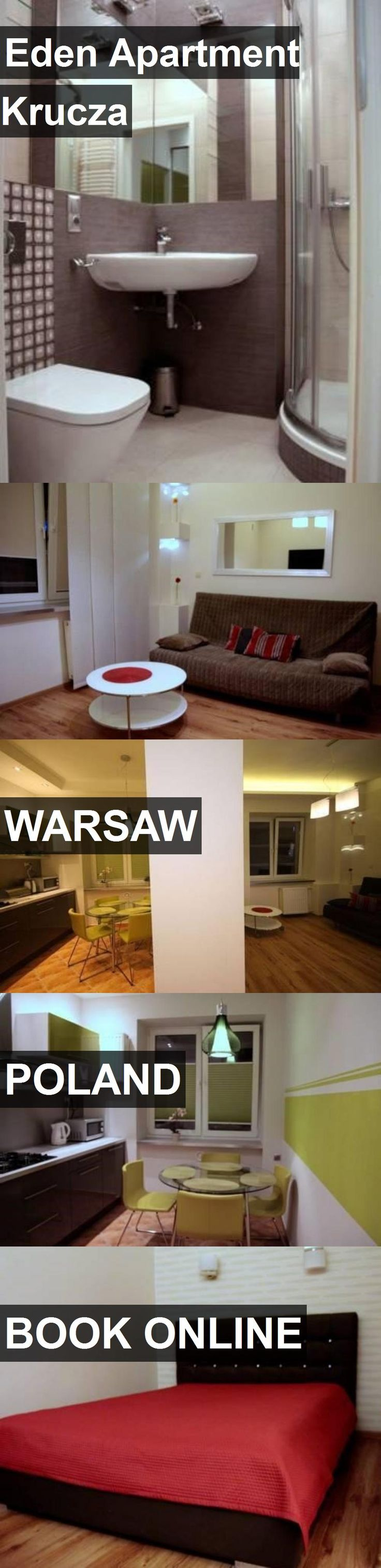 Hotel Eden Apartment Krucza in Warsaw, Poland. For more information, photos, reviews and best prices please follow the link. #Poland #Warsaw #EdenApartmentKrucza #hotel #travel #vacation