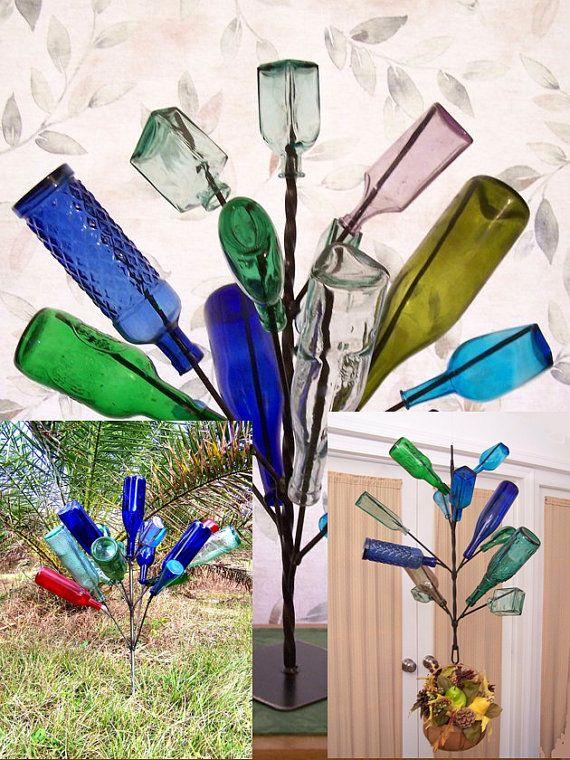 Spring 2015 Bundle Special: Southern Wine Bottle Tree Yard Garden Wine Art  Decor Bottletree Made USA