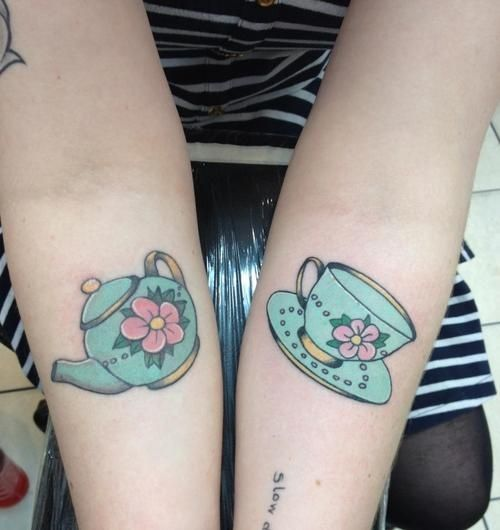 Tea Pot And Tea Cup Tattoos www.creativeboysclub.com
