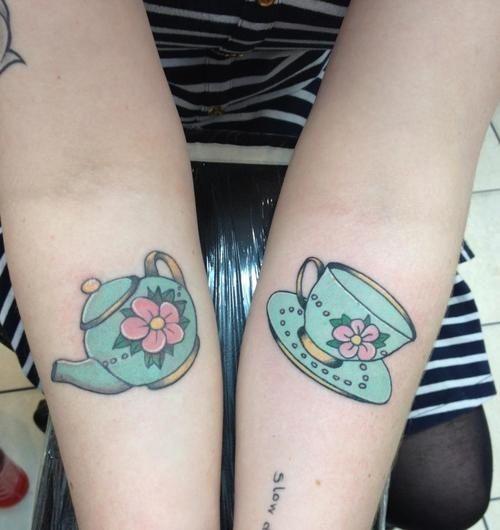 Tea Pot And Tea Cup Tattoos www.creativeboysclub.com