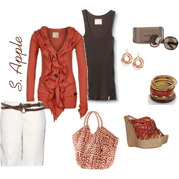 .: Red Tops, Sapple324, Dreams Closet, Untitl 56, Clothing Sho, Clothing Clothing, Polyvore, Accessories, The Cardigans