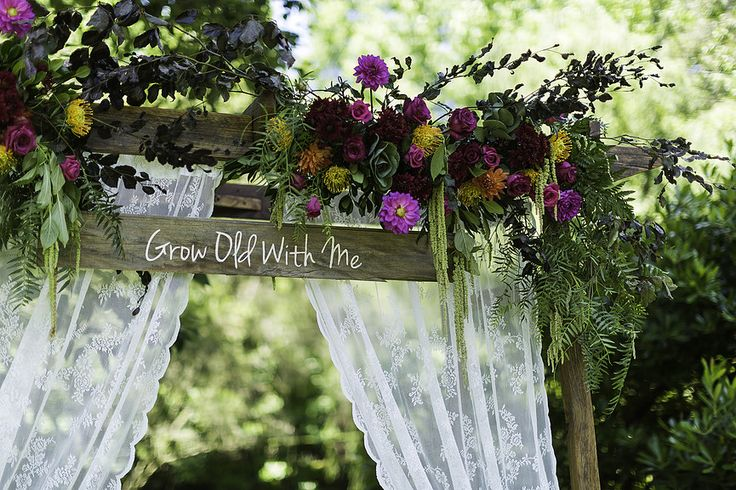 Boho and Bright Arbor Floral Arrangement // Wedding Arbor and Dressings supplied and installed by Rustic Character Wedding Hire // Photography by Gez Xavier Mansfield Photography.