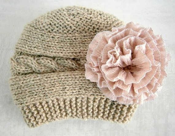Baby Girl Hat Knit Baby Girl Hats Baby Beanie by PrettyBagsByMia, $16.80
