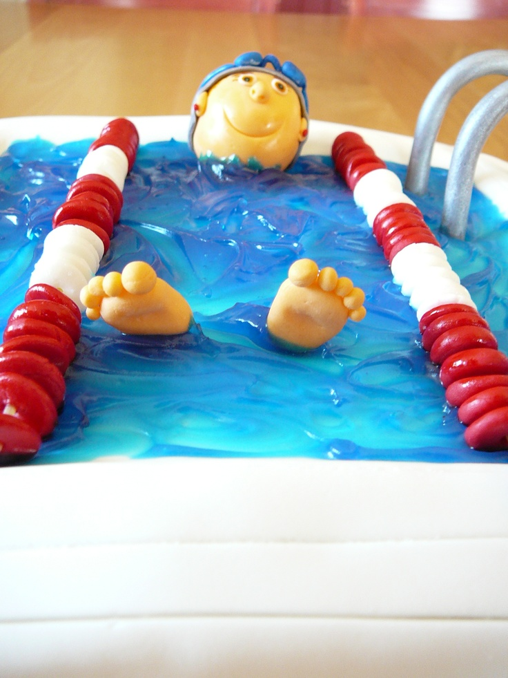 Pool Party § Swimmers Cake Via CakeCentral