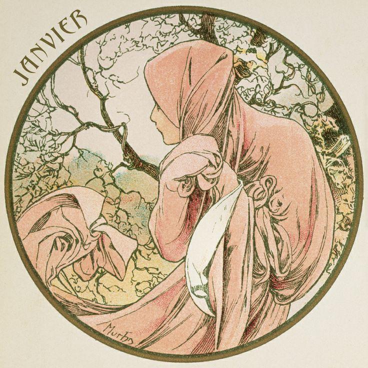 Meses del año, JANVIER - A. Mucha
