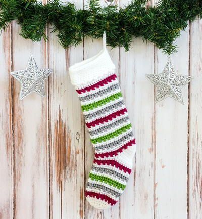 Classic Crochet Christmas Stocking Pattern | AllFreeCrochet.com