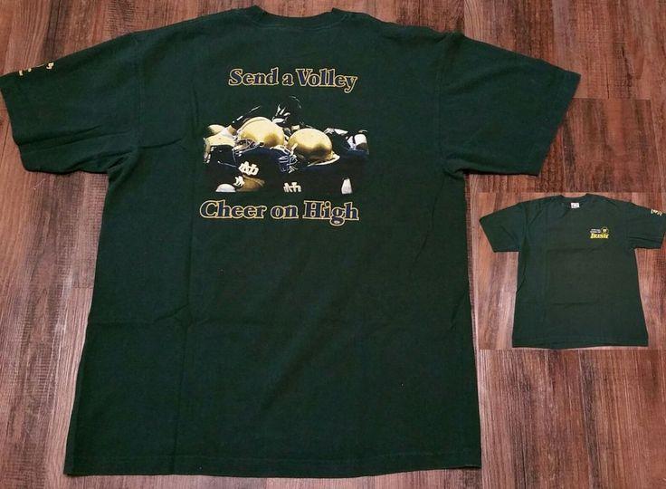 Notre Dame Football 2000 Irish green Tradition T-Shirt tee Men's XL The Shirt ND #Cadre #NotreDame
