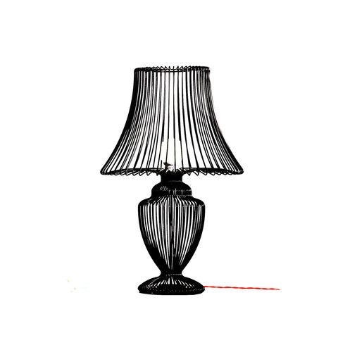 Deadgood, Wire Lamp - Black