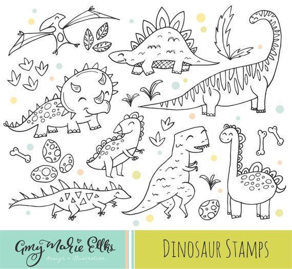 Dinosaur Clipart Set 30 Cute Dinos Clip Art For Little Boys And Girls With Printable Coloring Pag Dino Wreath Clip Art Wreath Vector Floral Wreath Vector