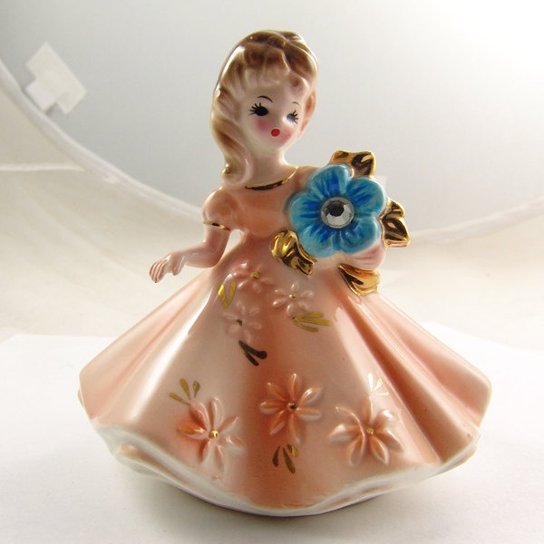 Vintage Josef Originals December Birthstone Figurine Rare. $19.95, via Etsy.