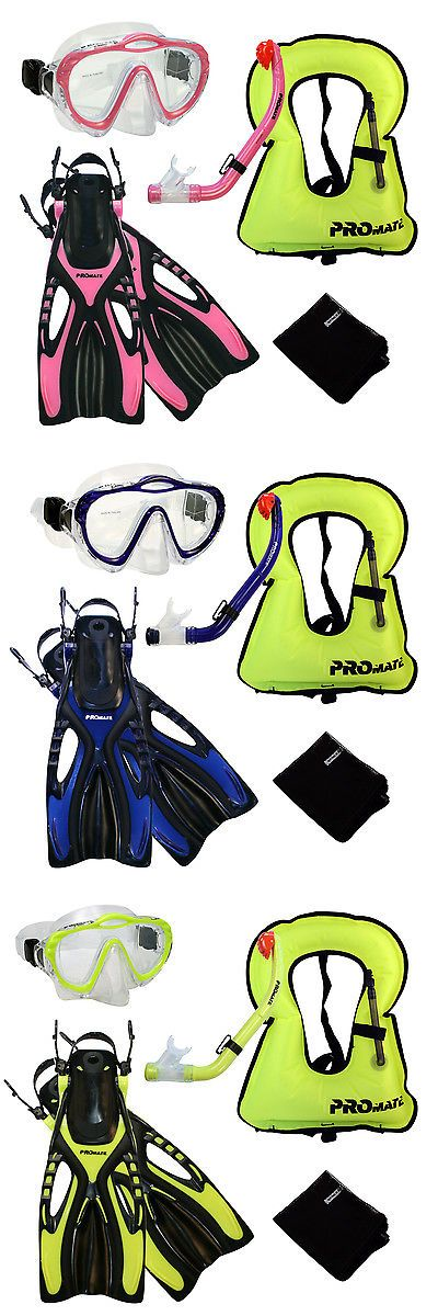 Fins 16054: Junior Snorkel Vest Snorkeling Diving Mask Snorkel Fins Youth Child Kid Gear Set -> BUY IT NOW ONLY: $59.95 on eBay!