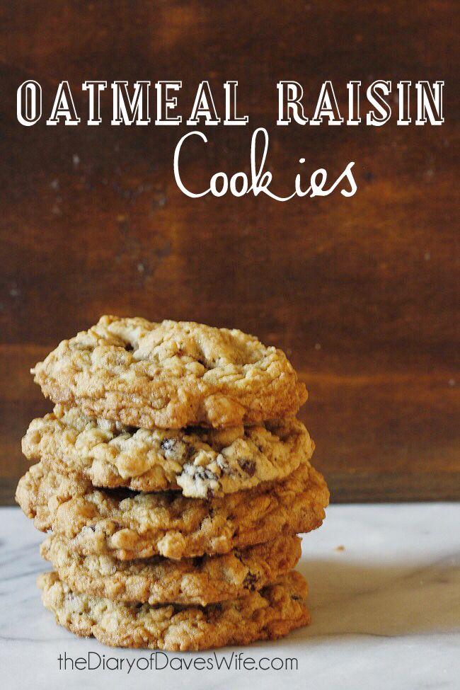 Chewy Oatmeal Raisin Cookies on Pinterest   Oatmeal Raisin Cookies ...