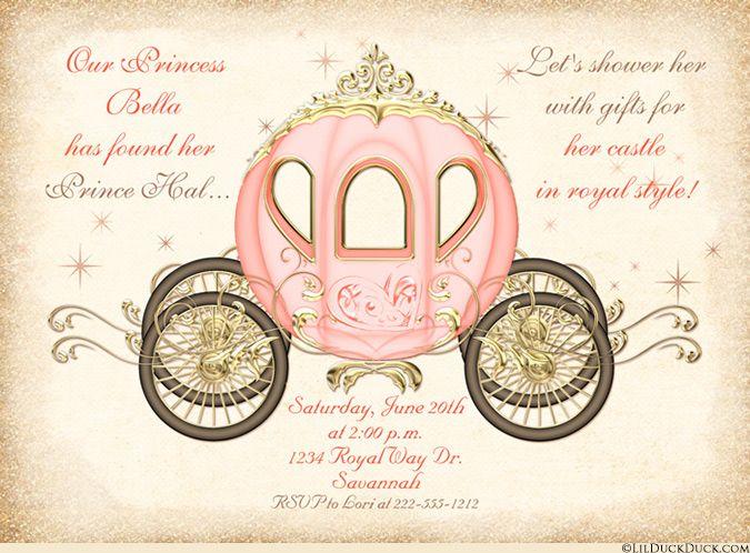 Light Champagne & Pink Fantasy Bridal Shower Cards
