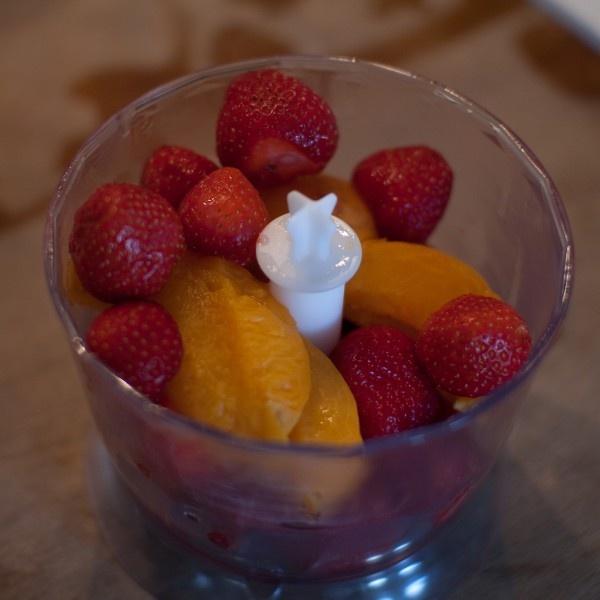 Abrikozen - aardbeiencompote | Koken voor mijn dochter