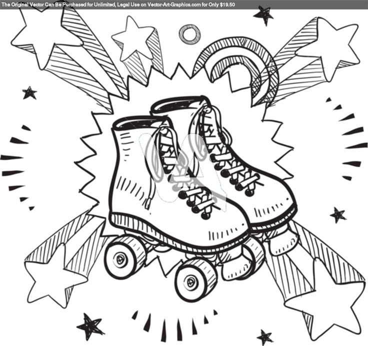 17 meilleures idé... Roller Derby Skate Drawing