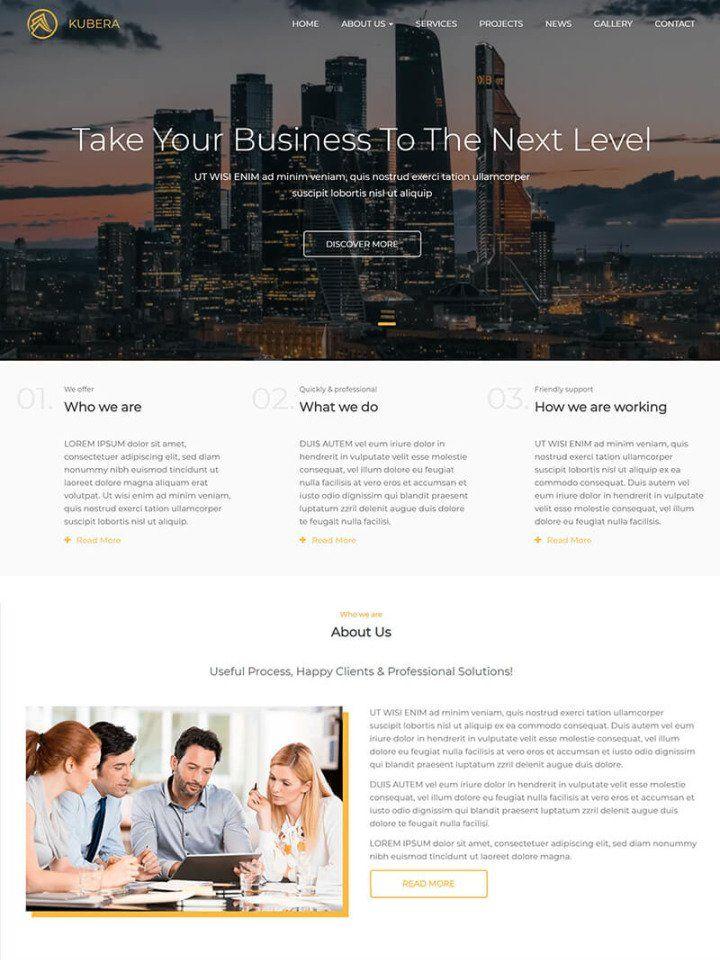 Business services website templates web design lead