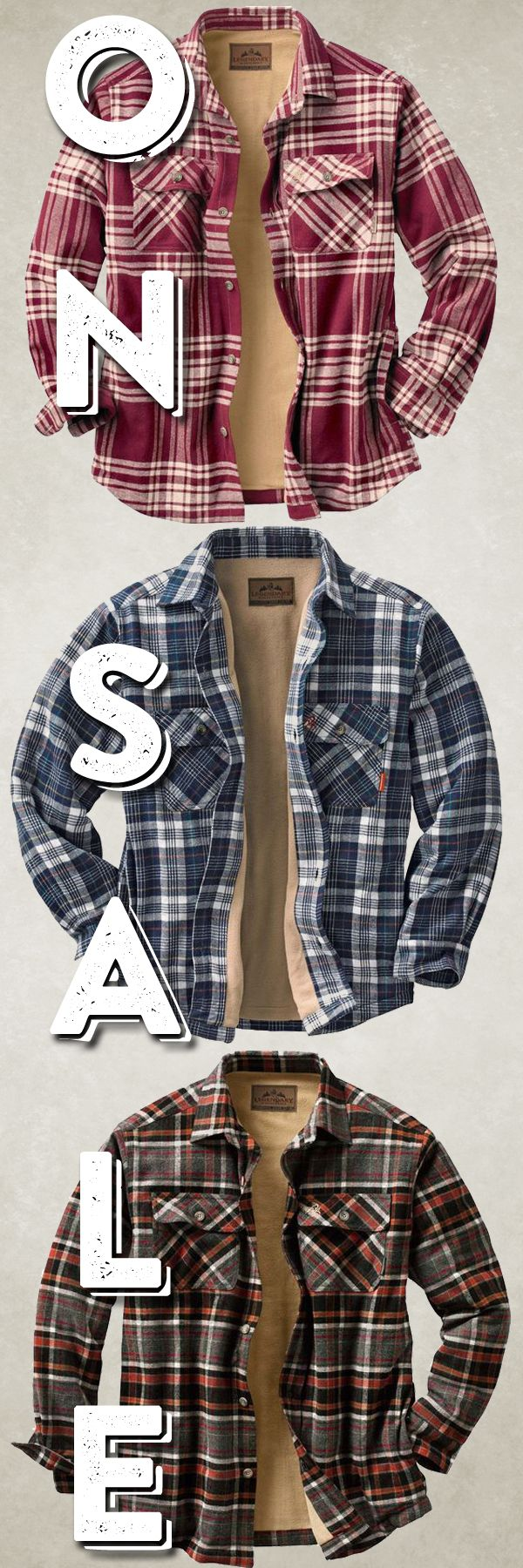 """This cold weather ain't got nothing on me!"" #FaceTheFrost 50% Off our fleece-lined flannel!"