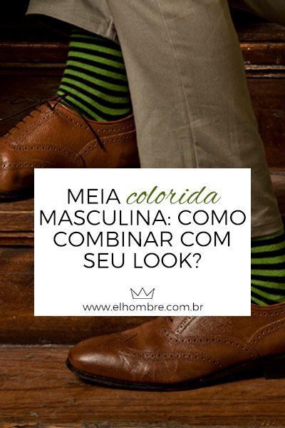 Meia colorida masculina  como combinar com seu look  e7f9c094815