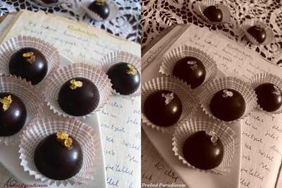 Praliné Paradicsom: Dobostorta bonbon blogszülinapra