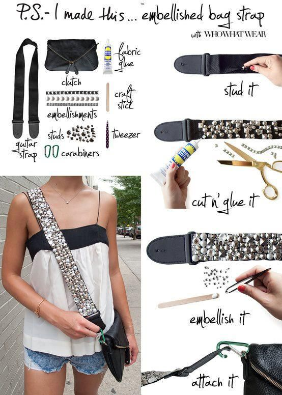 Would be fun to do with a thrift store/garage sale bag.  My Fashion Sketchbook: Fashion DIY #diy #fashion
