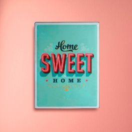 Placa de Metal Home Sweet Home