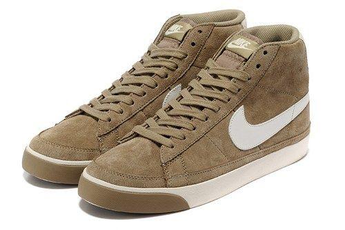 Cheap 371761-022 Nike Blazer MID camel white men running shoes