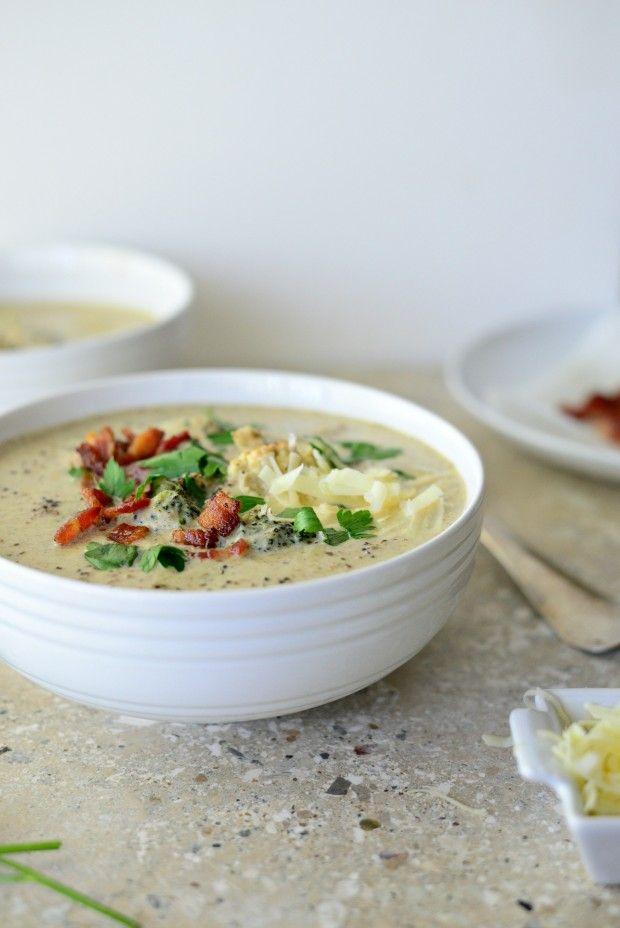 Roasted Broccoli + Cauliflower Soup l SimplyScratch.com (37)
