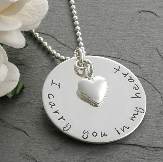 i carry you in my heart memorial jewelry