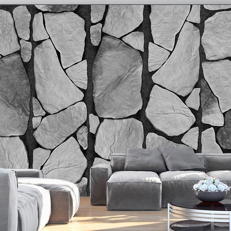 Tapeta - Greyscale #style #home #wallart #inspirace # #waterproof #cover #útulné #stones