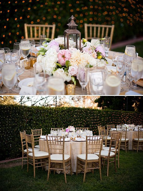 gold wedding table ideas