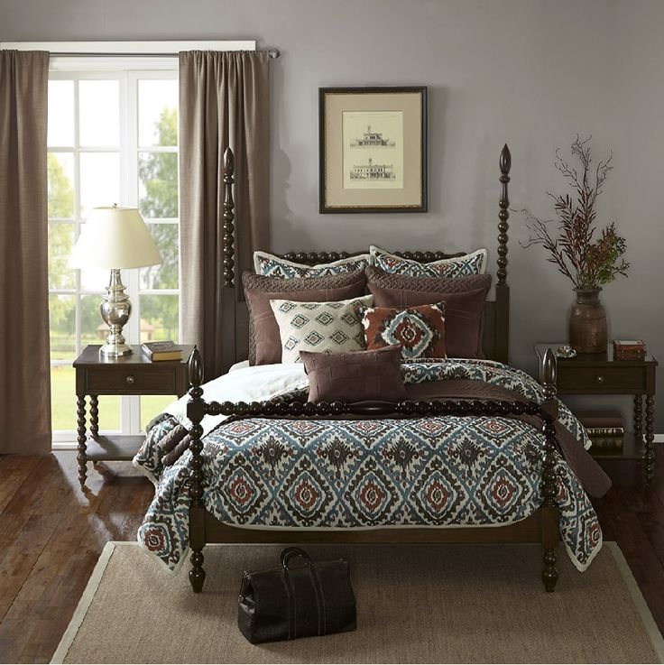 An Exotic Touch To The Bedroom: 1000+ Ideas About Brown Comforter On Pinterest