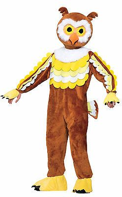 Halloween Costumes: Adult Owl Mascot Costume Full Body Animal Bird Suit Size Standard BUY IT NOW ONLY: $79.99