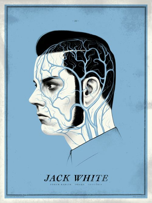 "Justin Erickson of Phantom City Creative just put a new poster for Jack White up for sale. It's an 18"" x 24"" screenprint, has an edition of 120, and costs $45."