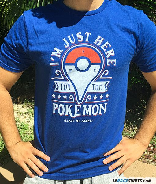 Shop our Here For The Pokemon T-Shirt. Our Pokemon Go tees are professionally screen-printed on premium grade shirts. Ship worldwide.