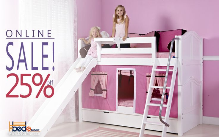 Maxtrix Bunk Bed with Slide Order Today & get Free Shipping in Canada!  Check out all BEDSMART  Furniture & take advantage of the amazing deals on quality kids furniture.