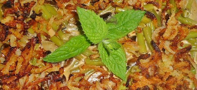 Romig en overheerlijk combinatie van Sperziebonen en Champignons. Een gerecht die goed bij geroosterd vlees passen.