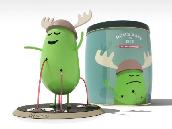 Dumb ways to die - toy art collection by Renato Matsumoto, via Behance