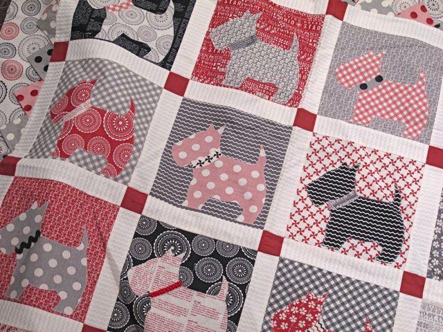 118 best Scottie Quilts images on Pinterest | Scottie dogs, Dog ... : scottie quilt pattern - Adamdwight.com