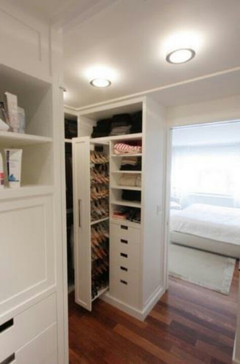 113 best images about walk in closet on pinterest walk for Walk in shoe closet