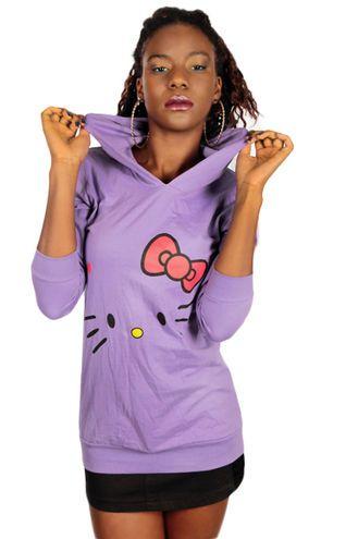Miau! #violet #pastel #hoodie #kitty #cybershop #fashion