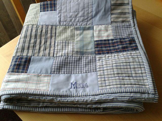 Shirt quilt | Recycled shirt quilt following Homemaker magaz… | Flickr
