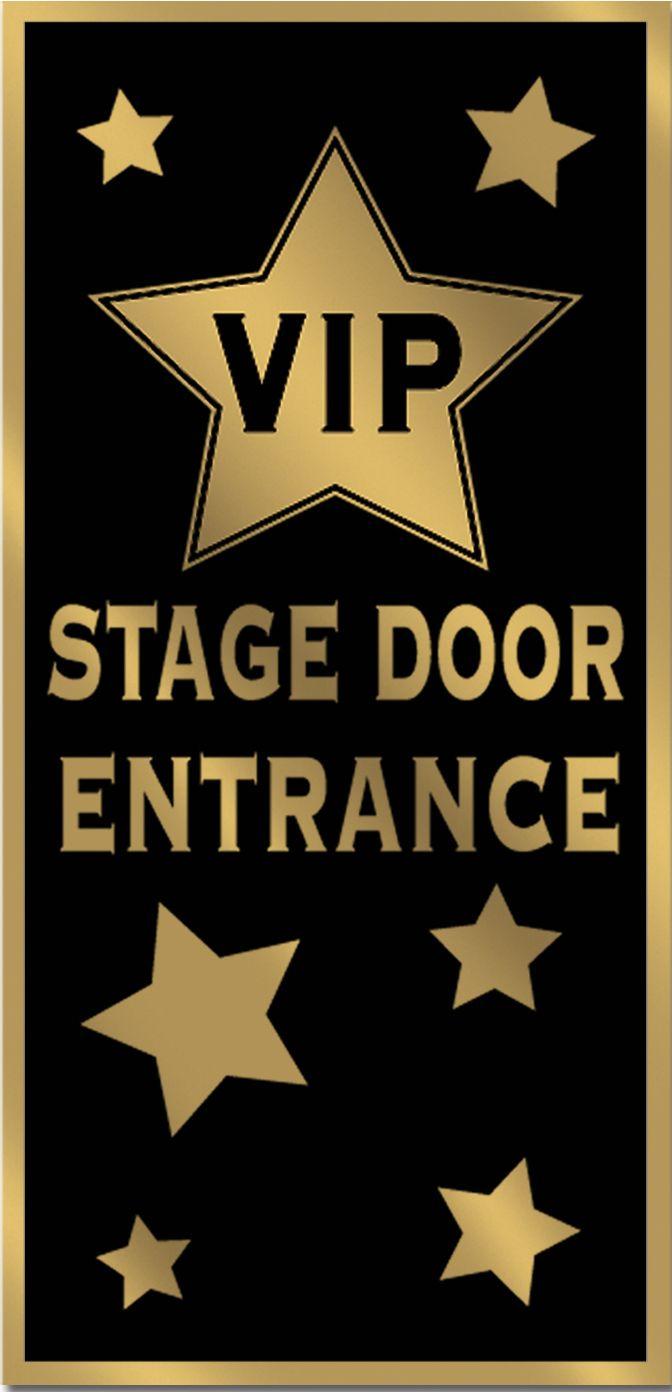 Cartellone per porta VIP su VegaooParty, negozio di articoli per feste. Scopri il maggior catalogo di addobbi e decorazioni per feste del web,  sempre al miglior prezzo!