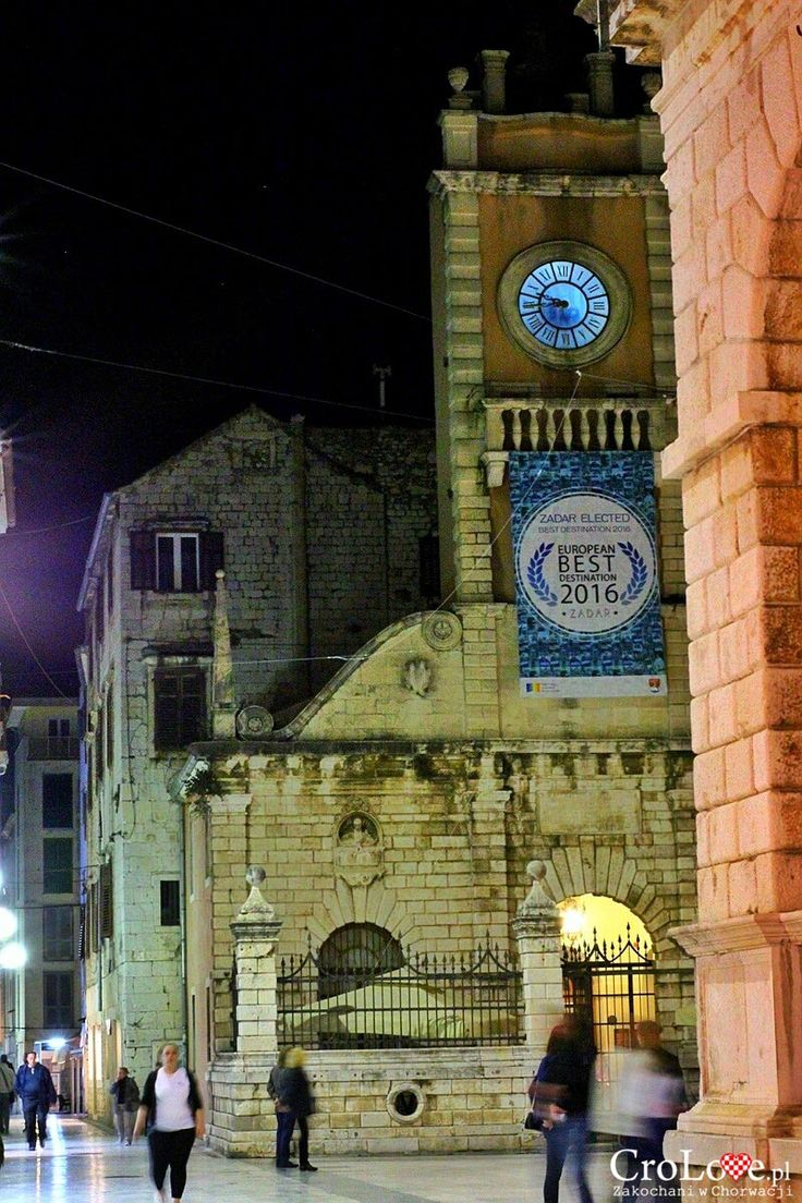 Zadar nocą   CroLove.pl  