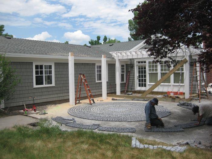 granite cobblestone pavers for backyard patio love the circle again - Cobblestone Pavers
